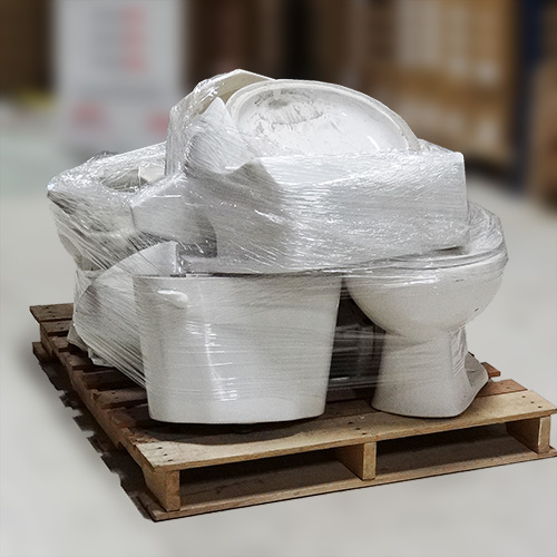 image of packaged old toilets