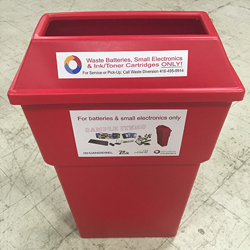 picture of our red bin delivered to you